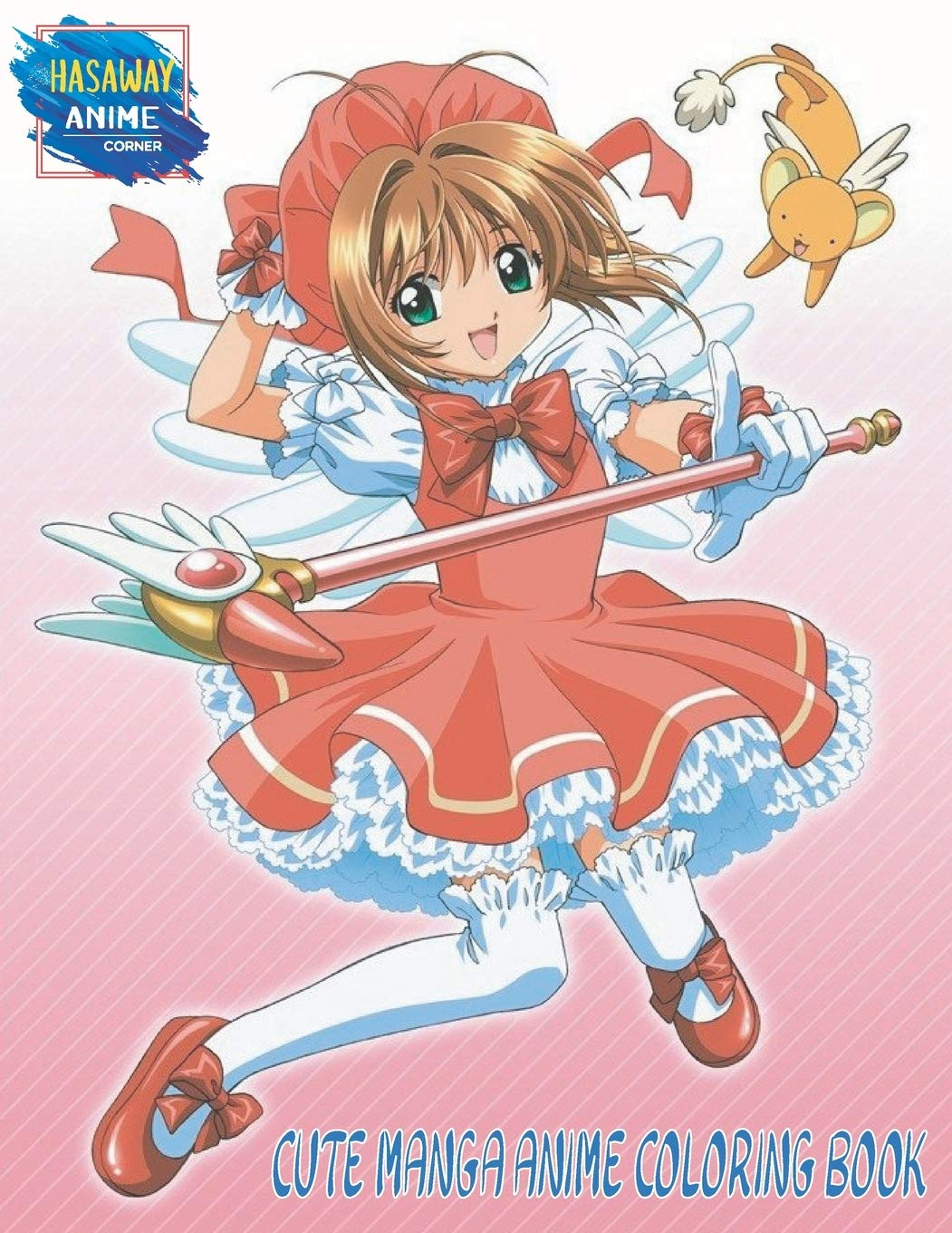 Cute Manga Anime Coloring Book  Beautiful Withches Fairy Magic Fantasy Kawaii School Girls Fun Female Japanese Cartoons And Relaxing Coloring Book ... And Kids Vol 2  Hasaway Anime Corner Band 2