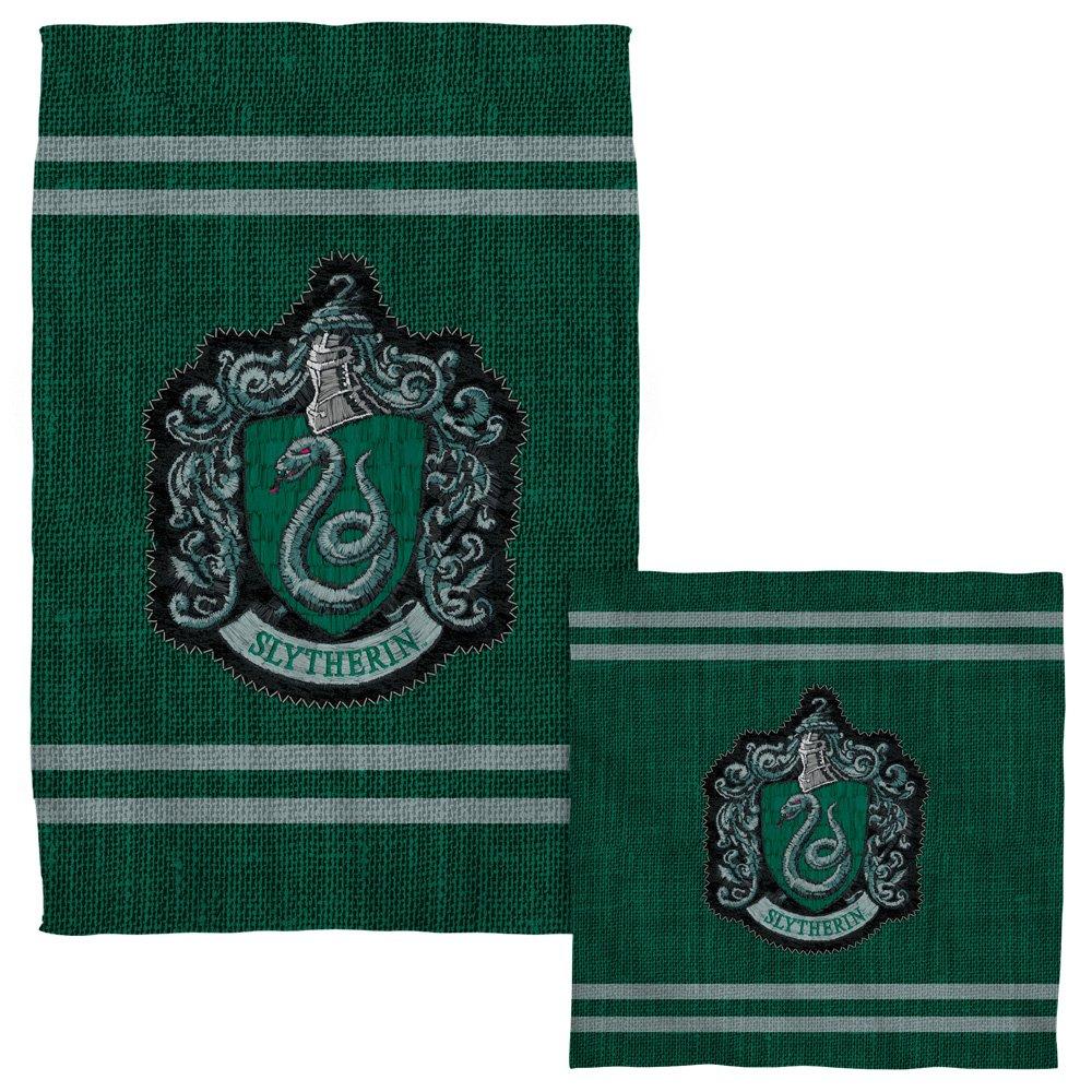 Slytherin Stitch Crest -- Harry Potter -- Face & Hand Towel Set