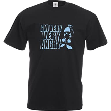 a637f6cde600 Marvin The Martian T-Shirt. Very Angry Small - Black  Amazon.co.uk  Clothing