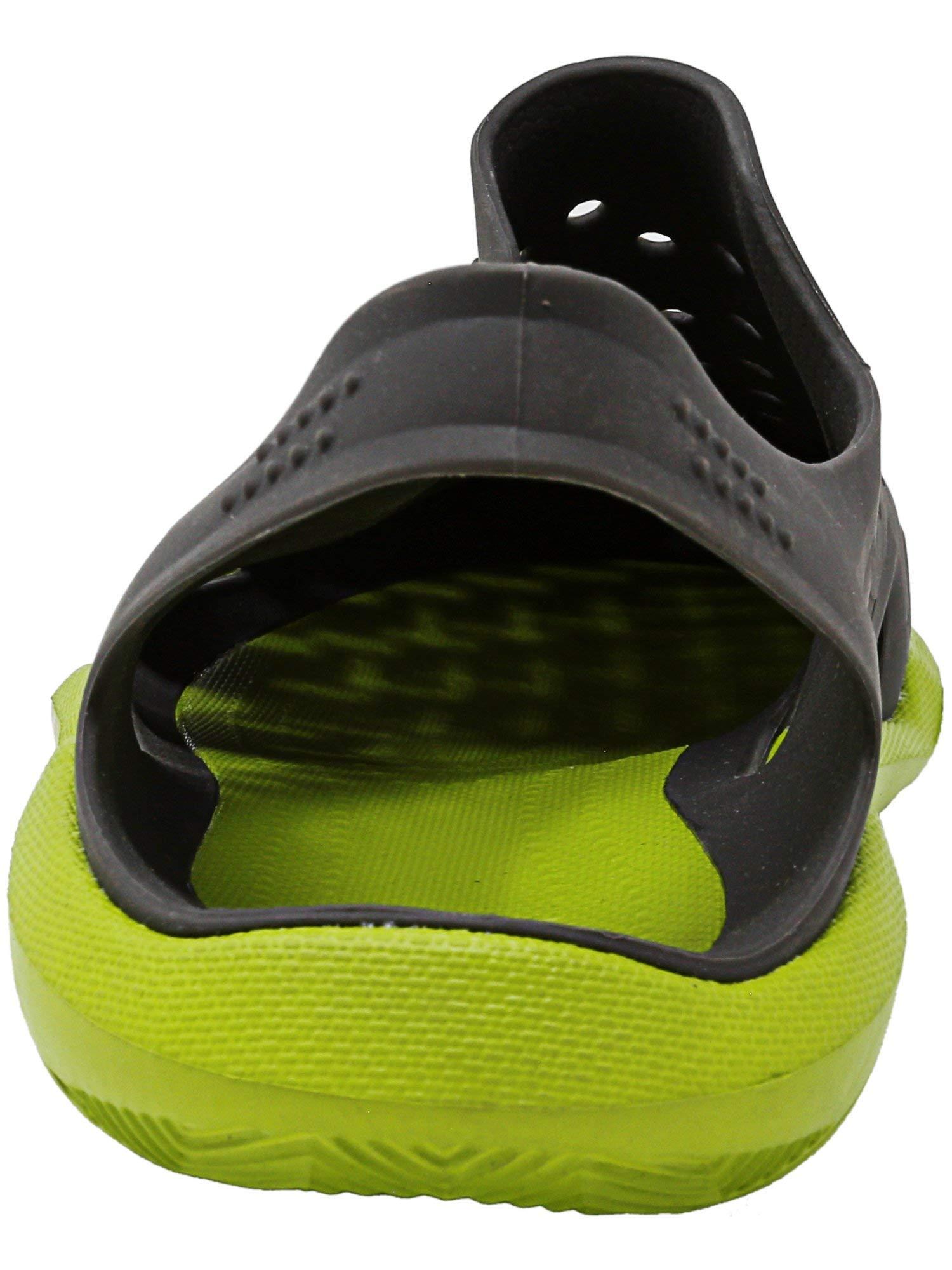 Crocs Men's Swiftwater Wave Graphite/Volt Green Ankle-High Rubber Sandal - 4M by Crocs (Image #3)