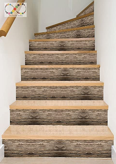 Amazon.com: Vinyl Decal Strips for Stair Risers/ Wall Borders - Peel ...