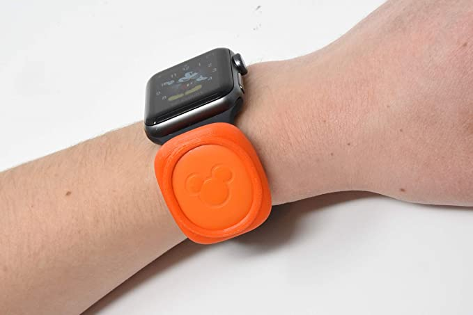 Luke3DP Watch Adapter Compatible with Disney Magic Band/Traditional Watch (Orange)