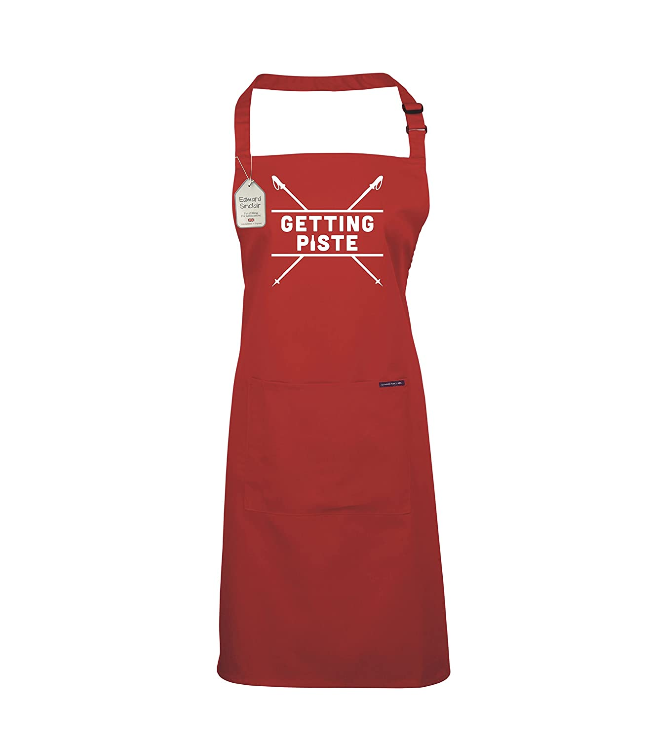 Edward Sinclair Getting Piste - Cooking Apron, BBQ Apron, Christmas Gift, Ski Gift