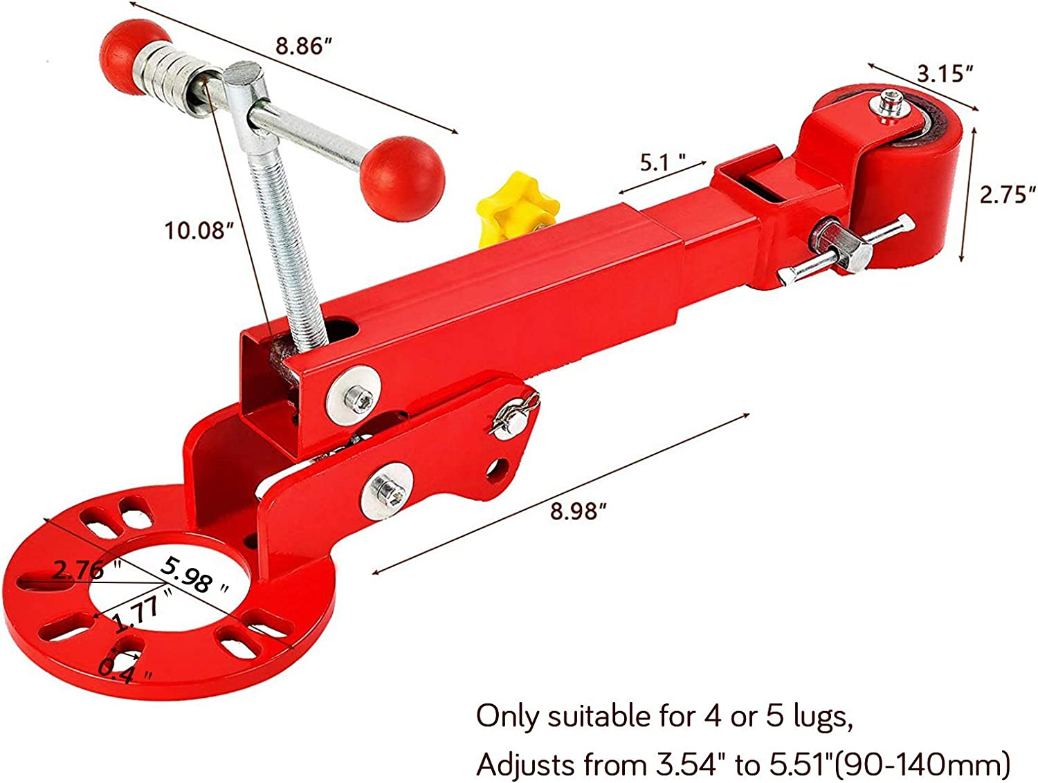 Flaring Reformer SUNCOO Fender Roller Tool Heavy Duty Lip Rolling Extending Tools Red Wheel Arch Rolling Tool
