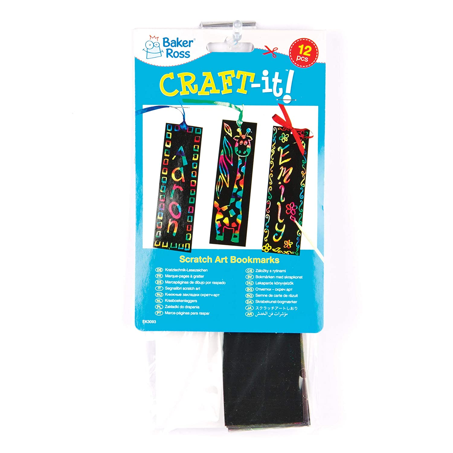 Pack of 12 Scratch Art Bookmarks