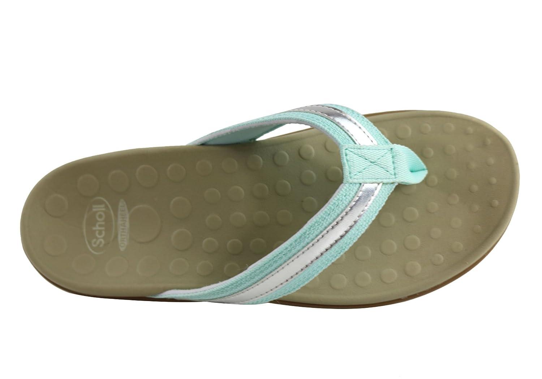 aa8606e74e4 Scholl Orthaheel Tide II Womens Comfort Orthotic Flip Flop Thongs - Size   12 AUS or 43 EUR - Color  Light Blue Silver  Amazon.com.au  Fashion
