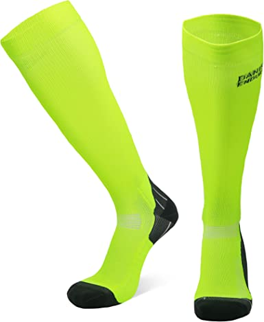 DANISH ENDURANCE Graduated Compression Socks, Made in EU, 18-21mmHg, for Women & Men, Running, Sports & Athletic