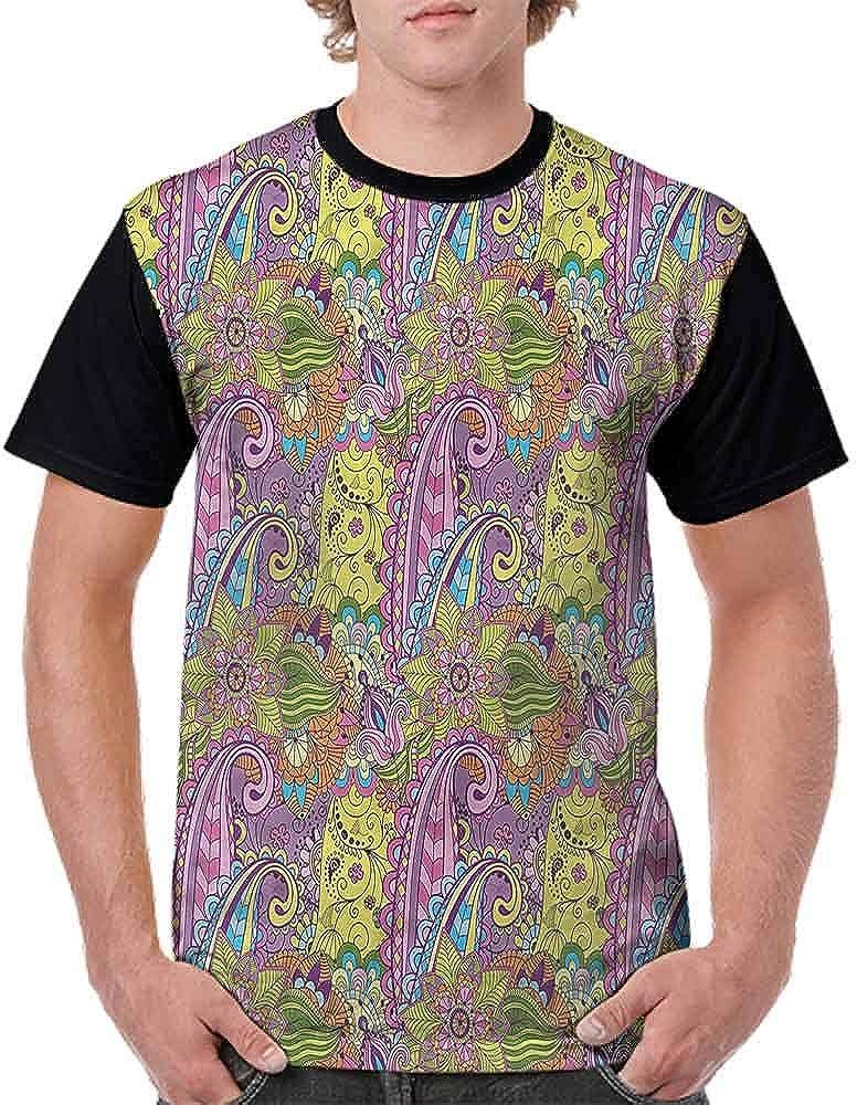 Loose T Shirt,Nature Elements Tree Leaf Fashion Personality Customization