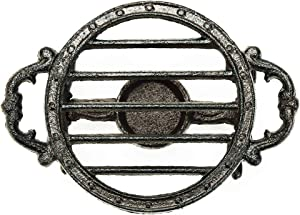 Sungmor Heavy Duty Cast Iron Teapot Dish Warmer Stable Holder for Tealight Stand | Tealight Warmer Decorative Stove for Villa Yard Balcony-Round