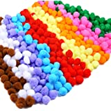 Caydo 600 Pieces 1 Inch Pom Poms for Hobby Supplies and DIY Creative Crafts Decorations, Assorted Colors