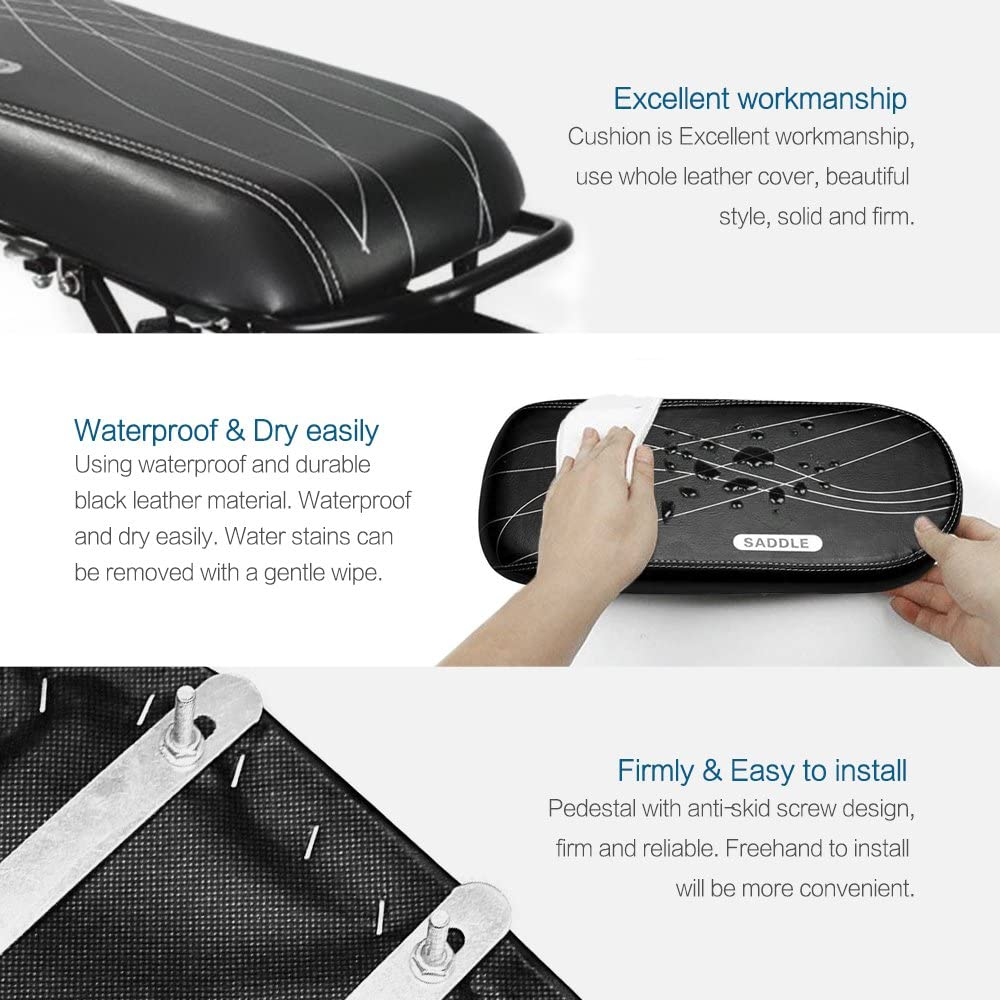 Dual Use Adults and Children ALIXIN-10028 Bike Parts Accessories Seats Mountain Bicycle Rear Seat Cushion Thicker Seat Rear Seat.Children Back Seat,Safety Kids Bicycle Rear Seat for Outdoor
