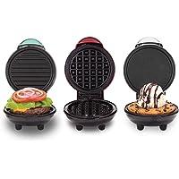 Dash DGMS03GBCL Mini Set of Three Waffle Maker, 3 Piece, Red/Aqua/White