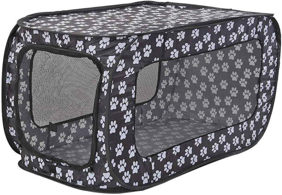 luminiu Plegable Parque Mascota de Juego,Tienda de Campaña Plegable Resistente al Agua Hamster Cage Cachorro Corralito Uso Interior/Exterior Jaula para Mascotas Jaula