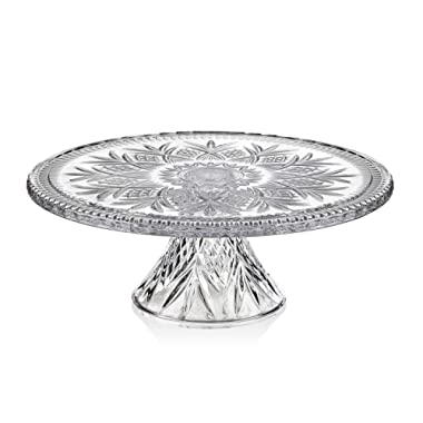 Godinger DUBLIN CAKE PLATE,Clear,12  cake plate with stand