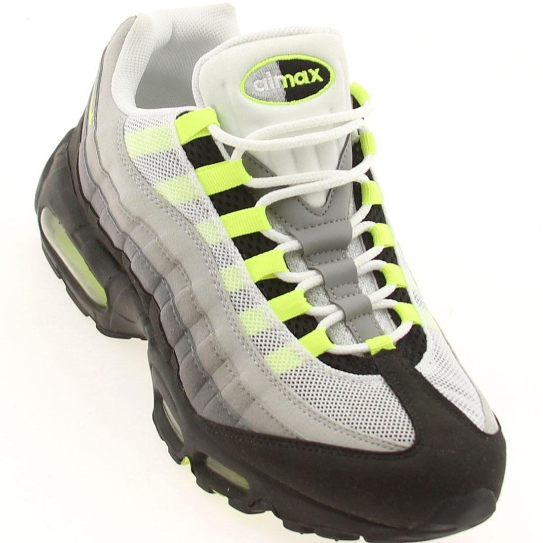 NIKE Men's Air Max 95 Premium Running Shoe B0038URPY8 10.5 D(M) US|Cool Grey/Neon Yellow
