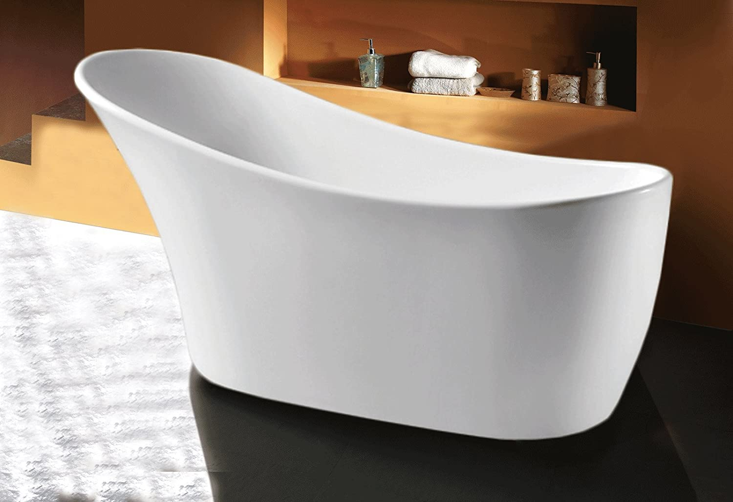 Top 10 best free standing acrylic bathtubs 2016 2017 on for Best freestanding tub material