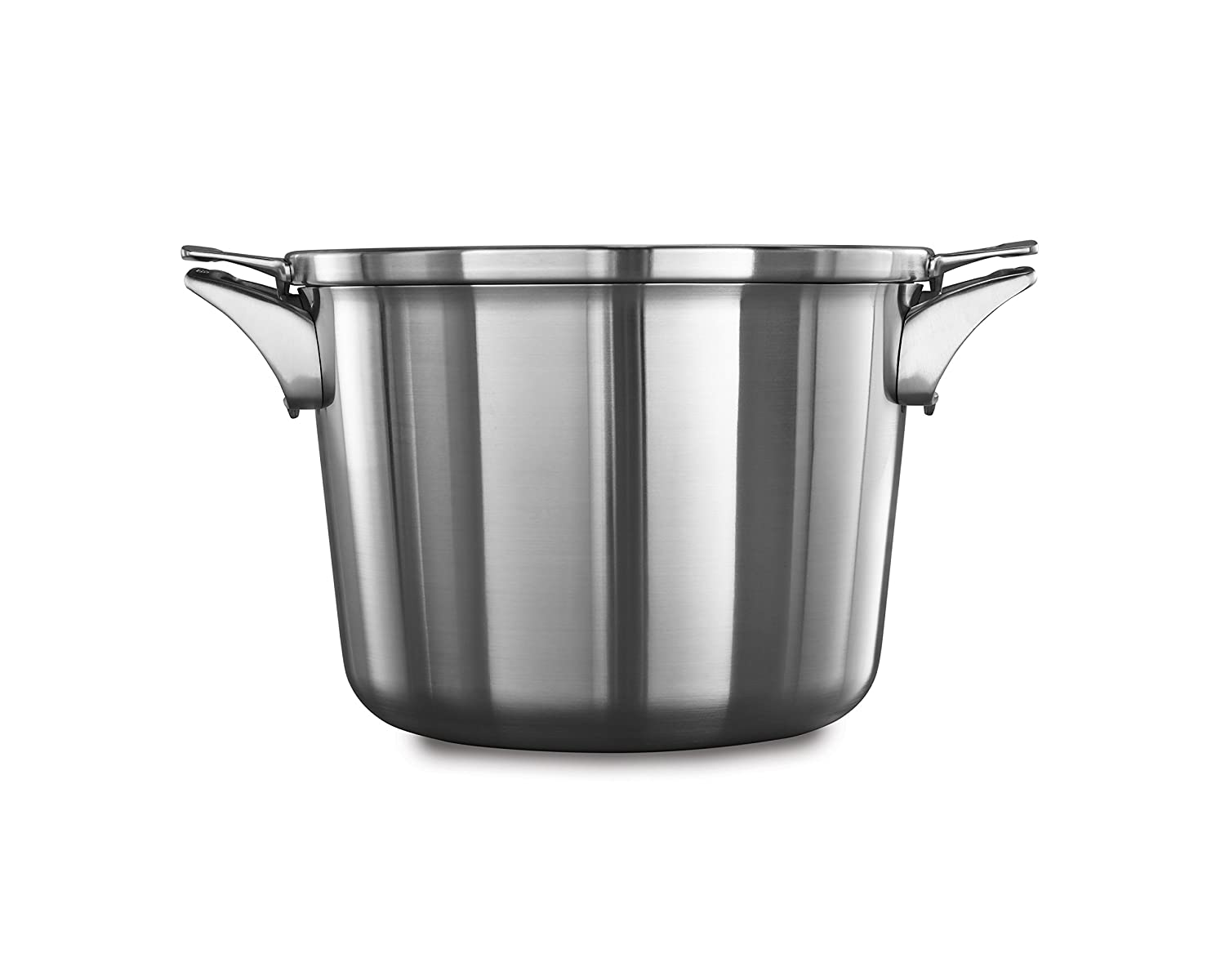 Calphalon Premier Space Saving Stainless Steel 8qt Stock Pot with Cover