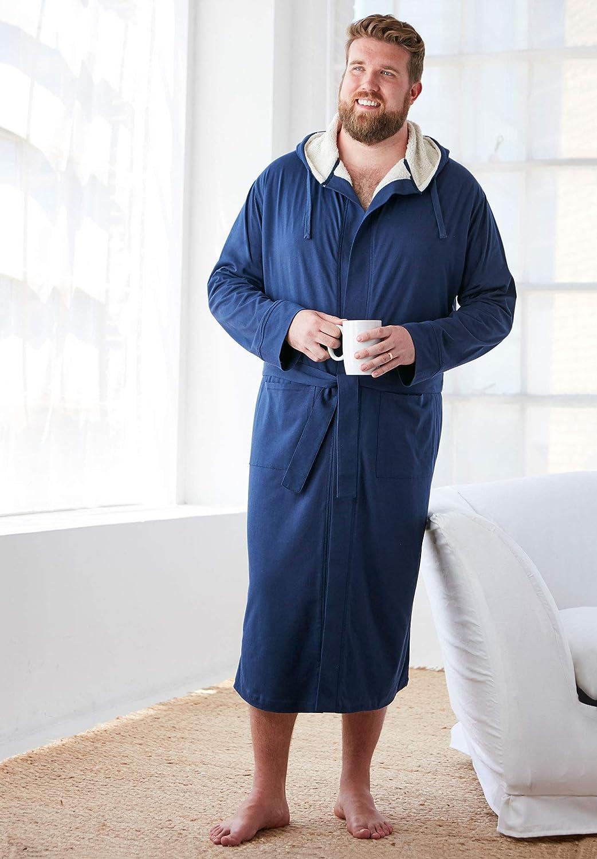 KingSize Mens Big /& Tall Sherpa-Lined Robe