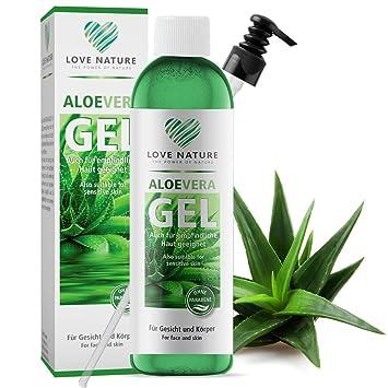 Love Nature Aloe Vera Gel 250ml Für Gesicht Haut Und Haare Vegan