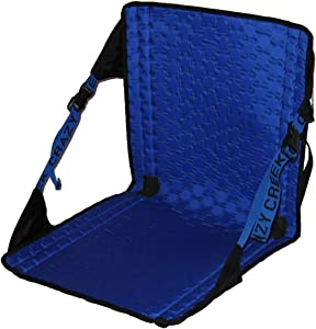 Crazy Creek Products Hex 2.0 Original Chair (Black/ Royal Blue) - Lightweight & Packable Camp Chair for Hiking, Backpacking, Camping, Boating & Stadium Use