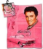Elvis Throw Blanket 50 X 60 - Pink With Guitars