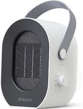 dodocool Calefactor Eléctrico, Mini Calefactor Baño, 3 Segundos Calentamiento Rápido, 1/2/3/6 ...