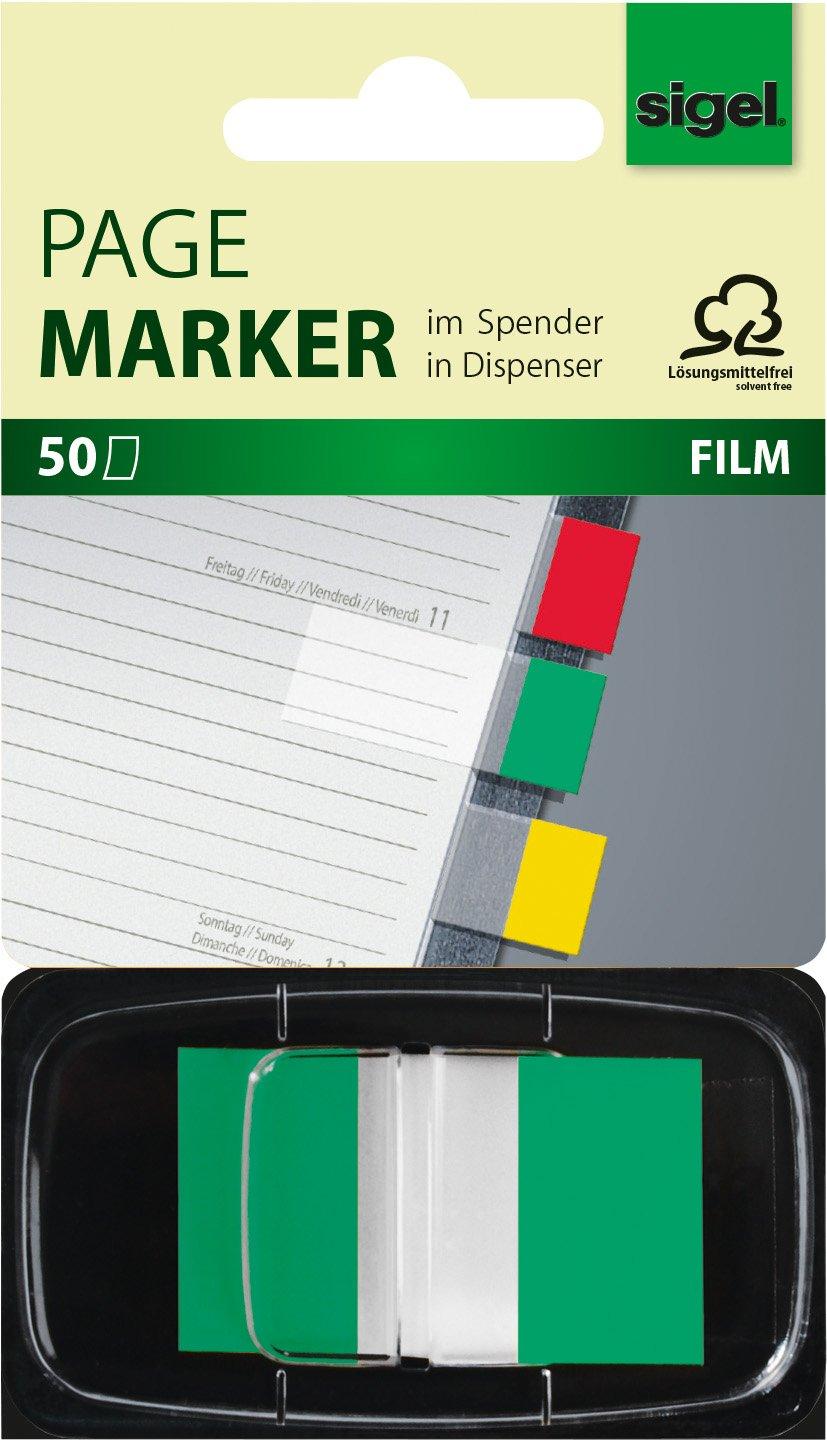 Sigel HN497 Segnapagina adesivi, Z-Marker, 2x standard, 2 colori nel dispenser, 43x25 mm, 100 fg.