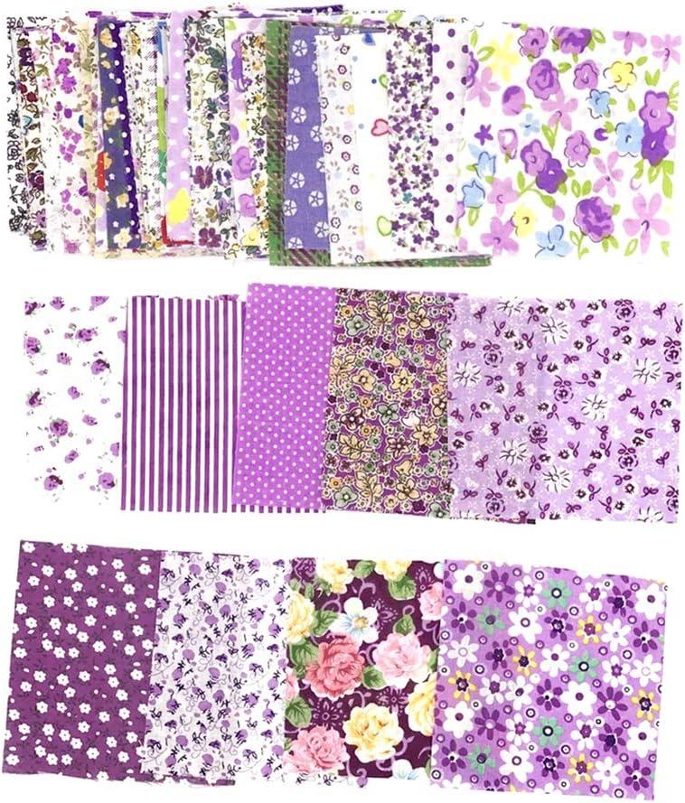 GREENLANS 50 Pz//Set 10x10 Cm Motivo Floreale Patchwork di Stoffa di Cotone Fai da Te Tessuto Normale per Cucire Artigianato Panno Accessori Fatti A Mano Blu