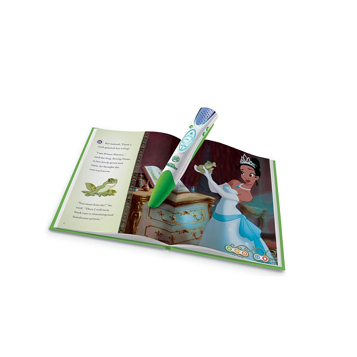 Amazon LeapFrog LeapReader Book Disney Princess And The Frog Works With Tag Toys Games