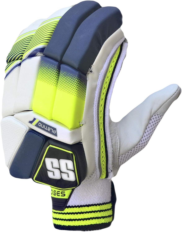 SS Platino Batting Gloves Blue Yellow Latest 2019 Model Mens Size