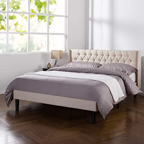 ZINUS Desmond Upholstered Platform Bed Frame