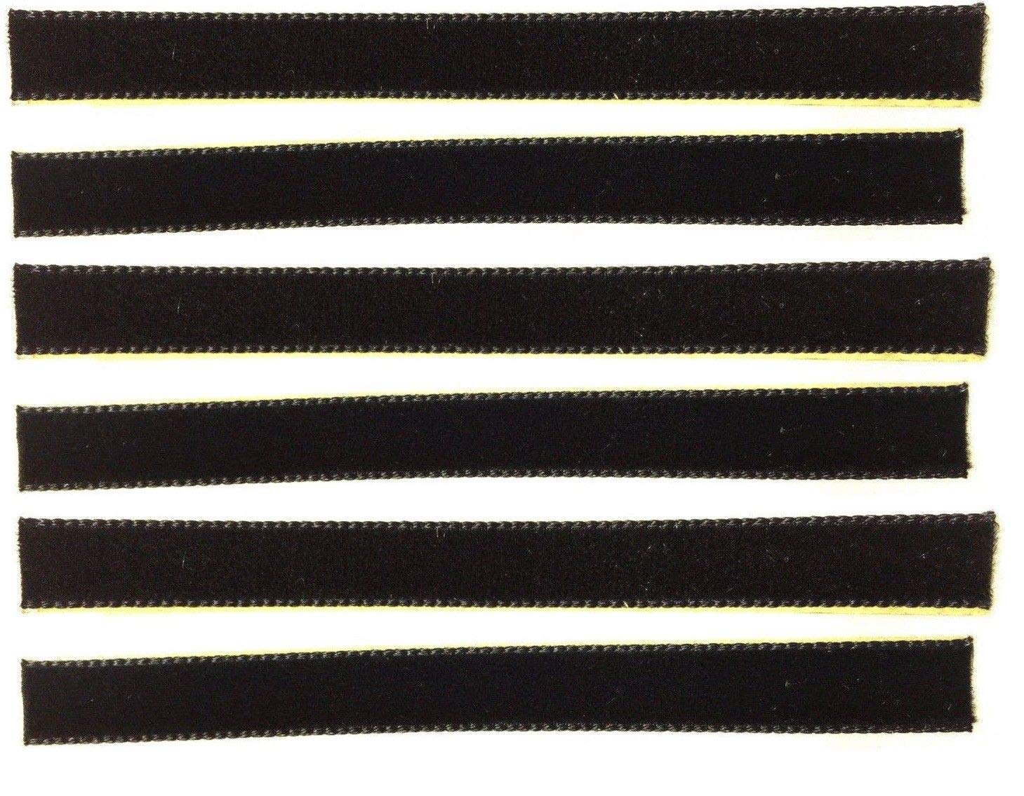 6-Pack of Black Over-Sized VPI Machine/Nitty Gritty/Okki Nokki Replacement LP Vinyl Record Album Cleaning/Cleaner Strips Oversized 3/8'' x 4''