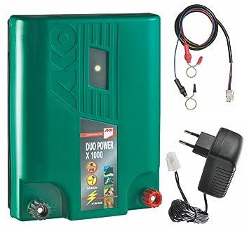 Elektrozaun/Weidezaun-Kombi-Gerät 1 Joule (Netz- oder Akkubetrieb ...