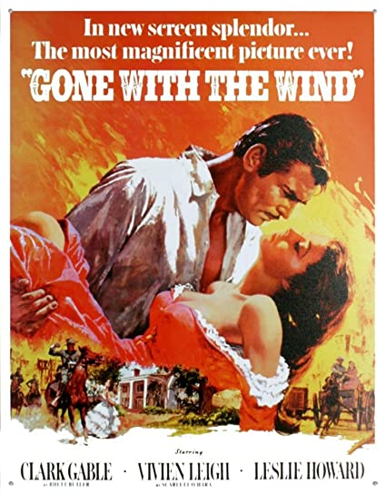 amazon com gone with the wind tin sign 13 x 16in home kitchen