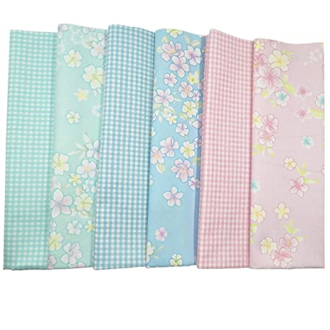 misscrafts algodón Craft Tela paquete cuadrados media metros juego de 50 * 50 cm Patchwork pelusas DIY de costura para álbumes de recortes acolchado ...