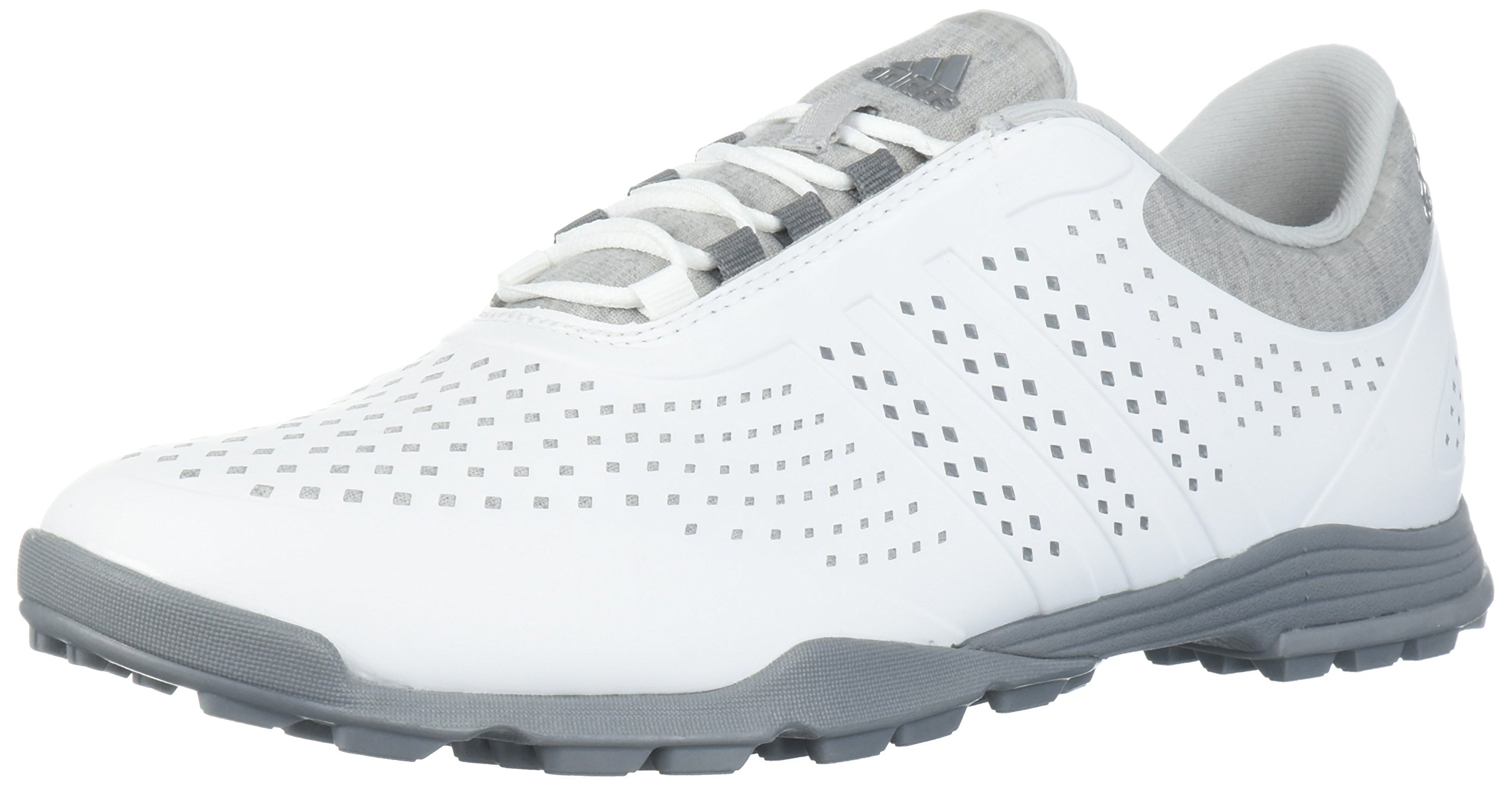 adidas Women's Adipure Sport Golf Shoe, White/Grey, 5 Medium US