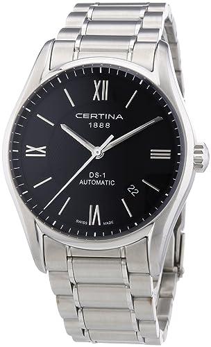 Certina DS 1 C006.407.11.058.00 - Reloj analógico automático para hombre, correa de acero inoxidable color plateado: Amazon.es: Relojes