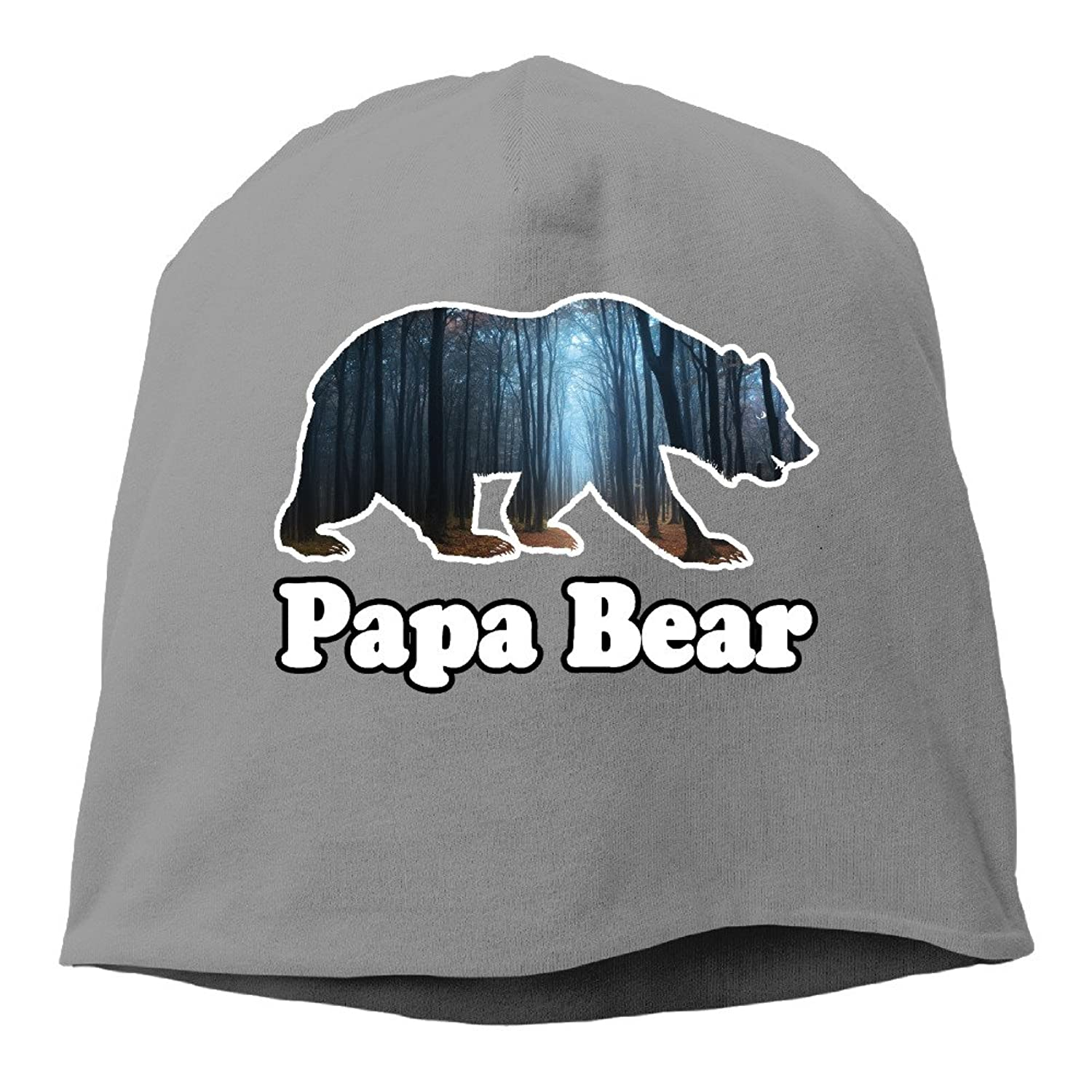 Mens Womens Papa Bear Dad Matching Family Slouch Beanie Skull Caps