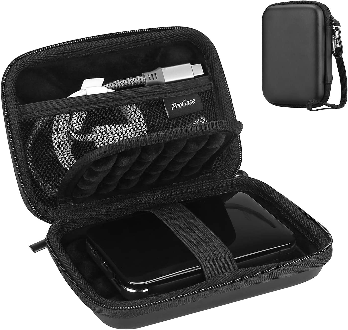 "Amazon.com: ProCase Portable Hard Drive Case for Canvio Basics Western  Digital WD Elements My Passport Seagate Portable Backup Plus Slim 1TB 2TB  3TB 4TB USB 3.0, 2.5"" Portable External Hard Drive Case -"
