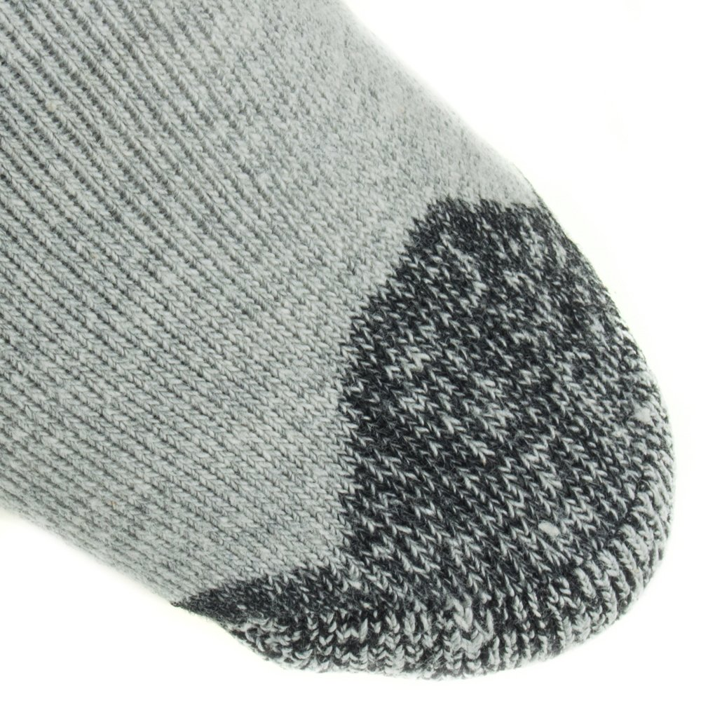 Working Person's 8766 Grey 4-Pack Steel Toe Crew Socks - Made In The USA (Large) by The Working Person's Store (Image #4)