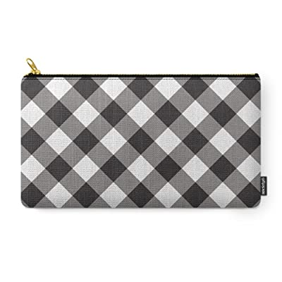 Society6 Gingham - Black Carry-All Pouch