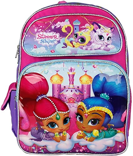 SHIMMER /& SHINE JUNIOR BACKPACK RUCKSACK CHILDREN TRAVEL SCHOOL BAG GIRLS PINK