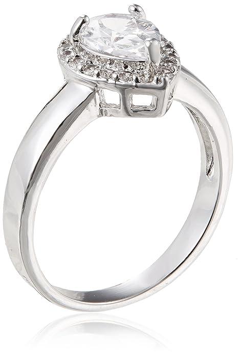 shaze Ring for Women Silver PEAR Ring SLV 11974:7 |Rings for Women |Rings for Girls