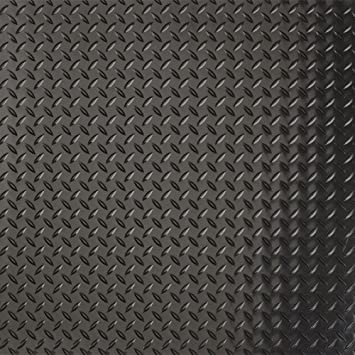 G Floor Raceday Diamond Tread 12 X 12 Peel And Stick Tile In Midnight Black Set Of 20 Building Supplies Flooring Materials