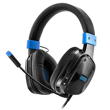 Empire Gaming H800 - Casco para gamersmultiplataformasonidoestéreoaltadefinición, micro flexible y auriculares confortables. Jack de