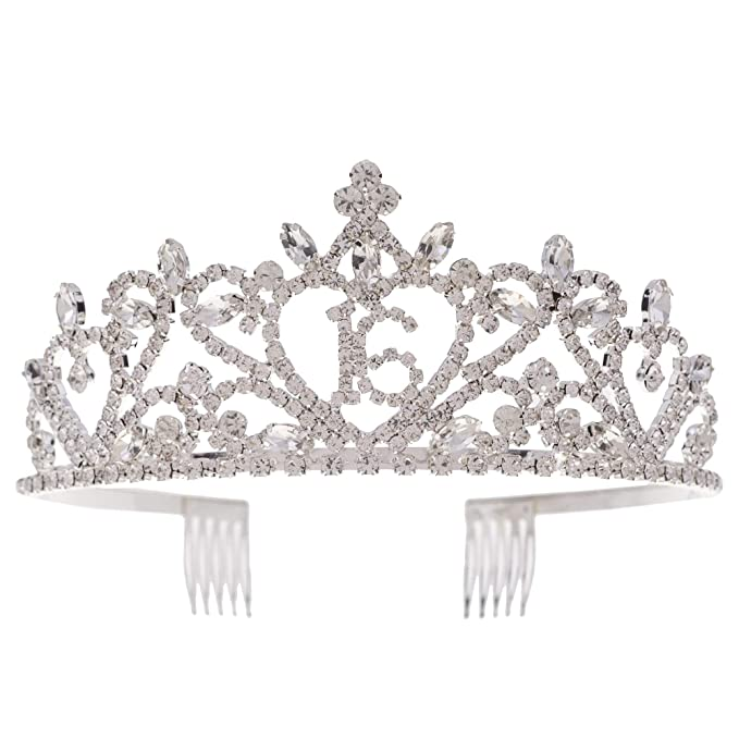 Birthday Crown Girl Tiara Princess 16//21//22//30//40//50 Crown Hair Accessories