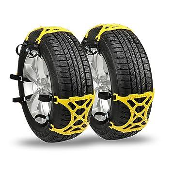 Cadenas de nieve antideslizantes para neumáticos de automóvil [juego de 6 unidades].: Amazon.es: Coche y moto