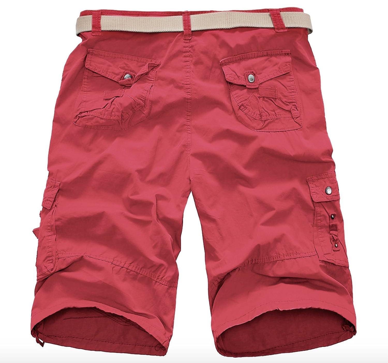 ZumZup Mens Summer Cargo Shorts 100/% Cotton Camouflage Bermuda Casual Shorts No Belt