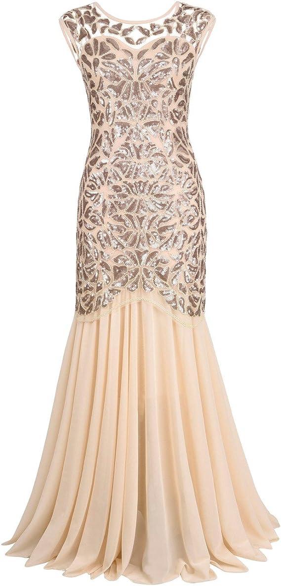PrettyGuide Women's 1920s Long Evening Dress