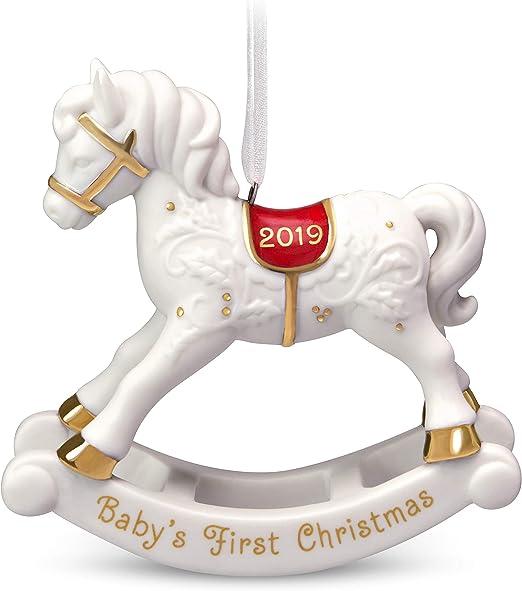 Hallmark BABY/'S FIRST CHRISTMAS Porcelain Cradle Ornament 1992 NOS QX458-1
